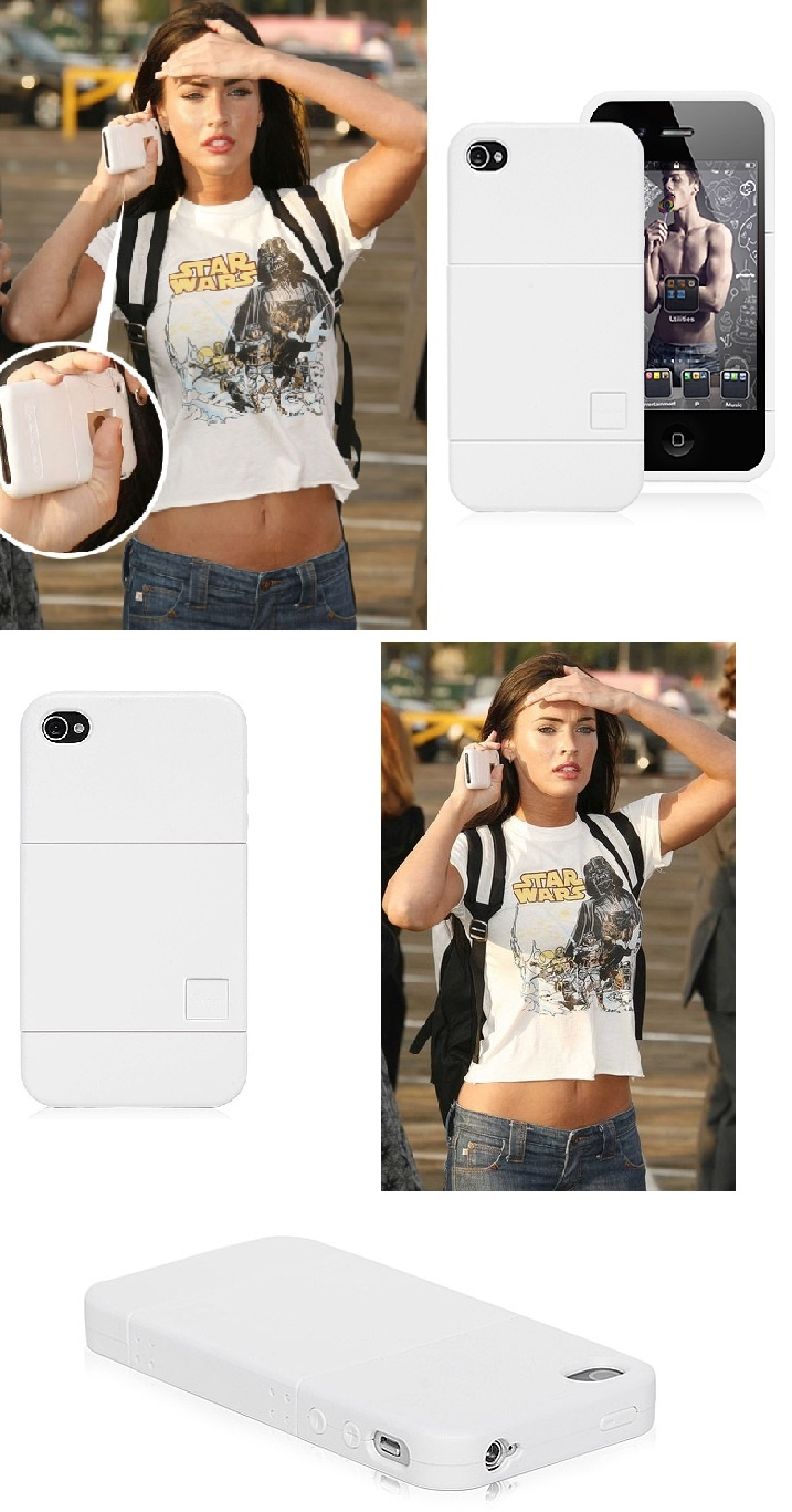 Megan Fox and her iPhone 4 Hard White Case #iPhone4 #White #Case #MeganFox $5.27