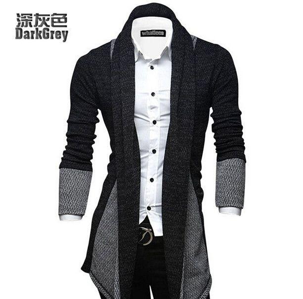 Men Knitted Cardigan Jacket / Saco Korean Style