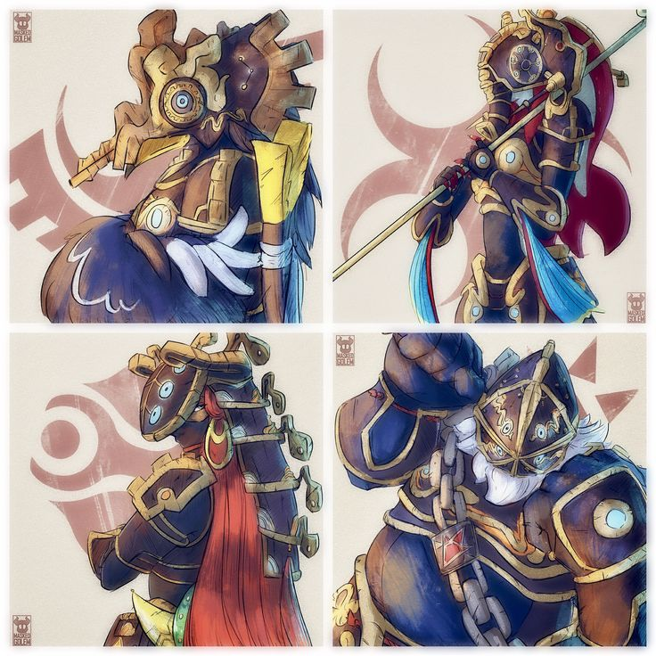 Hylian Champions in armour