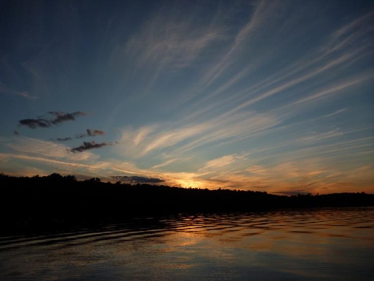 Sunset over Fairbank Lake, near Sudbury, Ontario, Canada. Part of Fairbank Provincial Park.