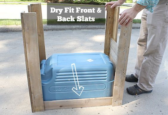 Dry fit front and back slats Easy to follow cooler box