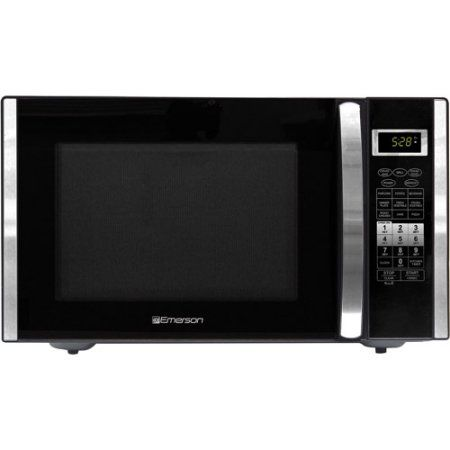 Refurbished Emerson 1.5 cu ft 1000-Watt Microwave with Convection Grill, Stainless Steel, Silver