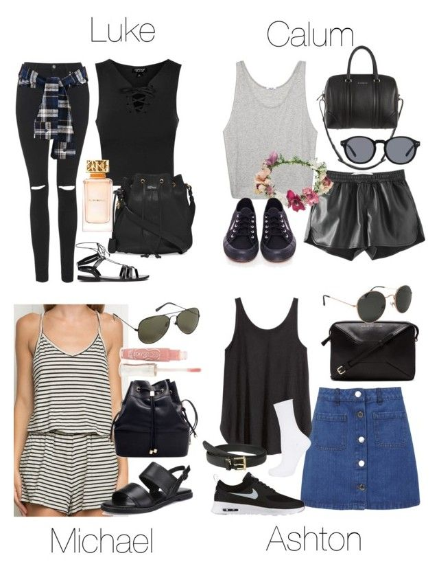 """""""Casual Family Reunion Outfits"""" by fivesecondsofinspiration ❤ liked on Polyvore featuring Brandy Melville, Topshop, Miss Selfridge, Marc by Marc Jacobs, Forever 21, H&M, Lauren Ralph Lauren, ASOS, NIKE and Alexander McQueen"""