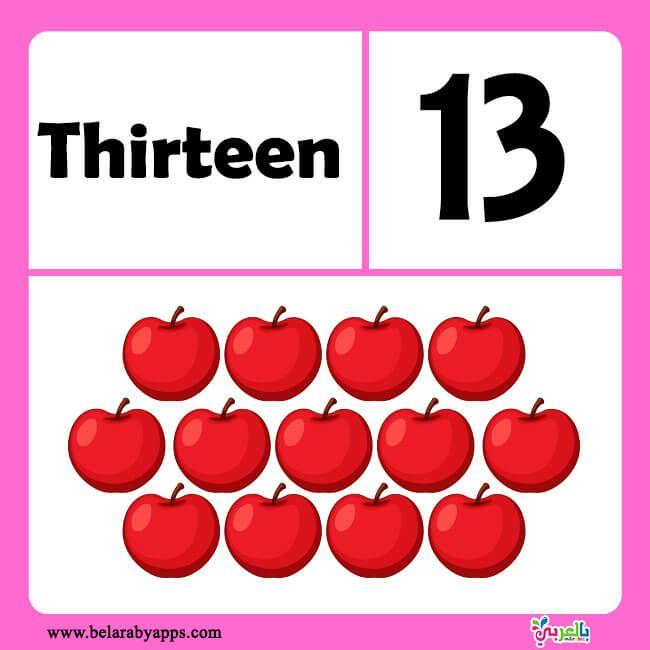بطاقات تعليم الارقام الانجليزية للاطفال من 1 الى 20 بطاقات الارقام الانجليزية للاطفال بالعربي Worksheets Free Free Printable Worksheets Printable Worksheets