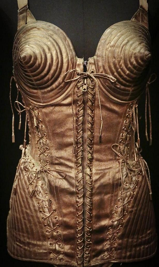Madonna's Cone Bra is previewed during the installation of Brooklyn Museum's 'The Fashion World of Jean Paul Gaultier' :: Madonna Glam