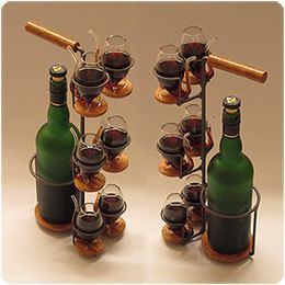 Serving Tray with Port Wine Glasses  ''The by NorthernConcepts