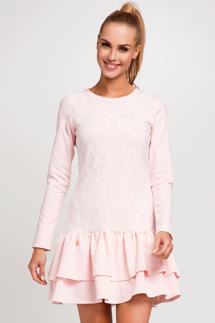 Makadamia M250 Sukienka - różowy