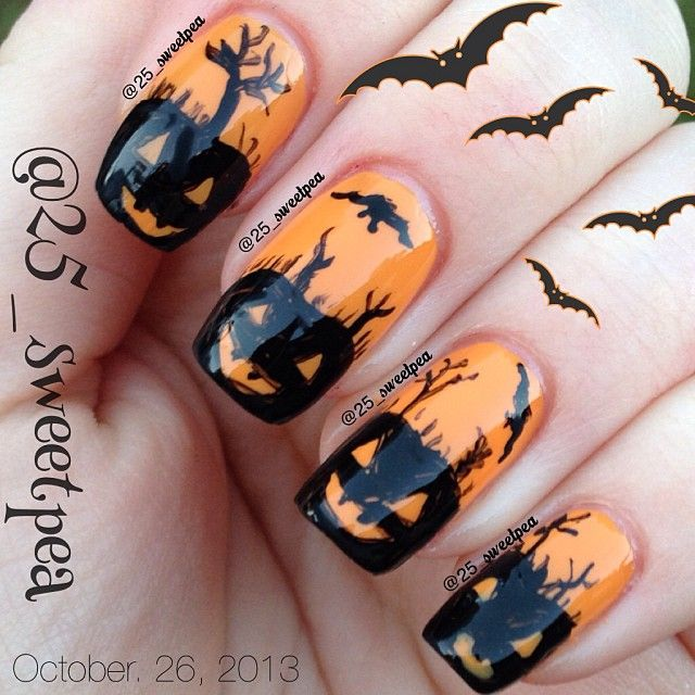 25_sweetpea's awesome #Halloweenailart! Show us your tips—tag your nail photos with #SephoraNailspotting to be featured on our social sites!