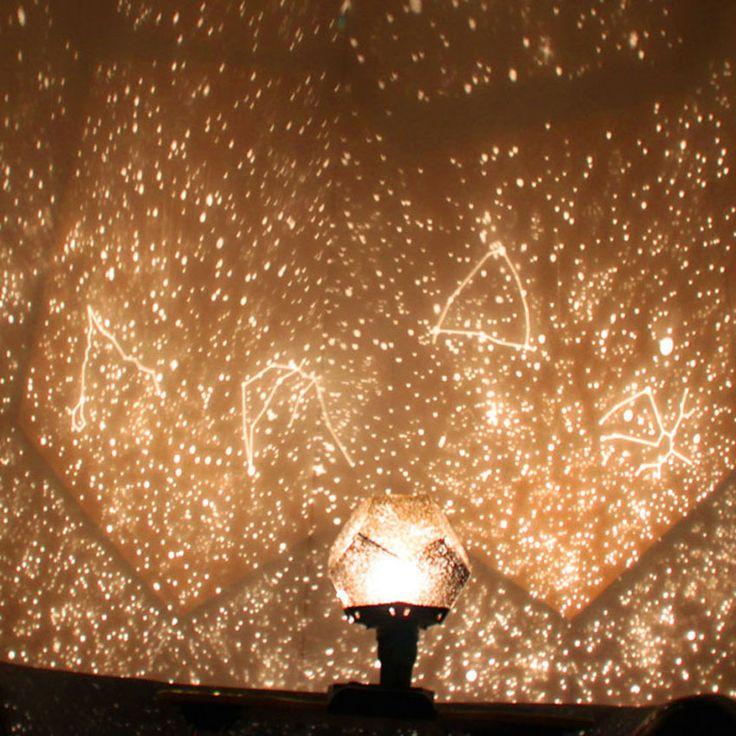 Venta caliente nuevo popular creativa celestial lámpara del proyector diy planetario amo de la estrella del cielo nocturno luz para románticas luces del partido decoración