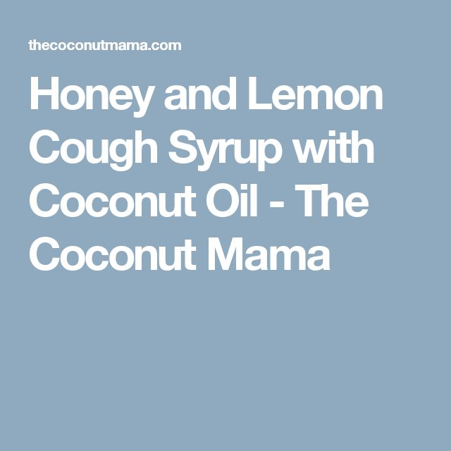how to make honey and lemon drink for cough