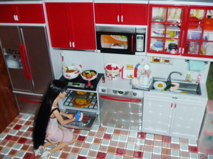 Miniature Modern Comfort Kitchen Set Rement Like 4 Blythe,Licca,Barbie,29cm  Doll Part 33