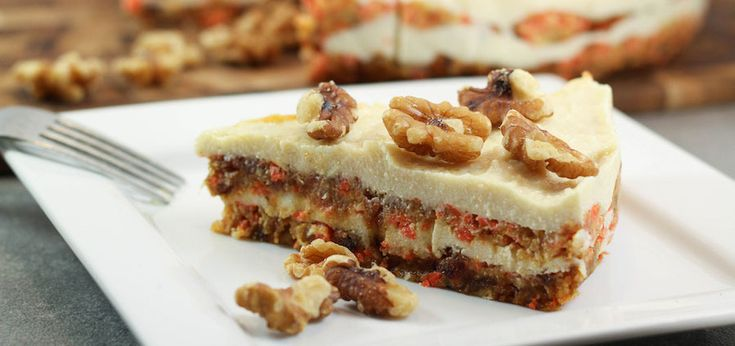 Raw Carrot Cake With Macadamia Frosting - mindbodygreen.com