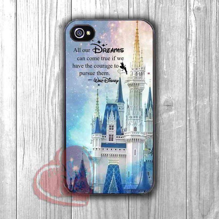 Disneyland Castle Walt Disney Quotes Case -srw for iPhone 6S case, iPhone 5s case, iPhone 6 case, iPhone 4S, Samsung S6 Edge