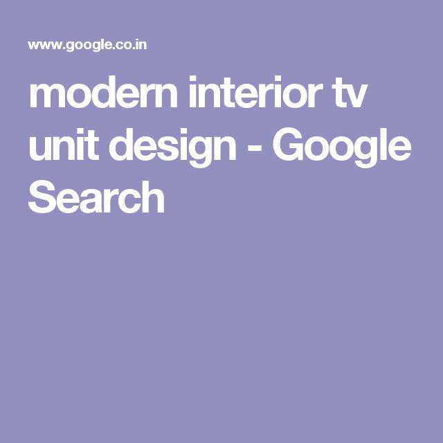 modern interior tv unit design - Google Search