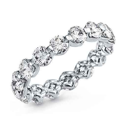 Floating Diamond Eternity Ring in Platinum (over 3 ct. tw.) | Blue Nile
