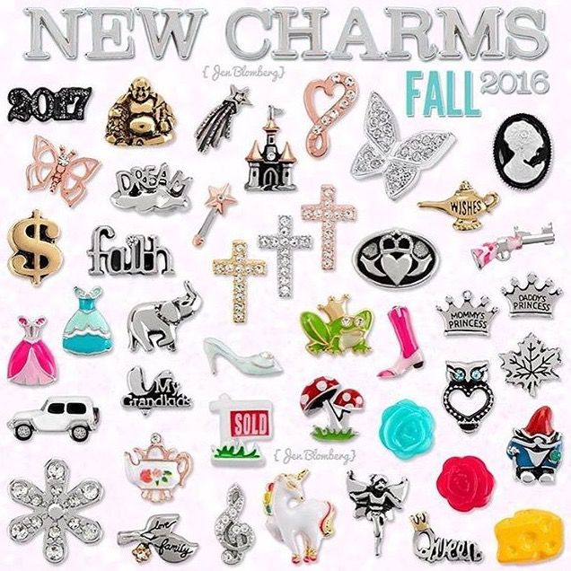 Our newest charms!! Origami Owl Fall 2016 charm release! www.charmingsusie.origamiowl.com