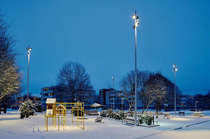 /Thule park - lighting design by Black ljusdesign/ - Park lighting - Lighting design - Public spaces - Outdoor lighting