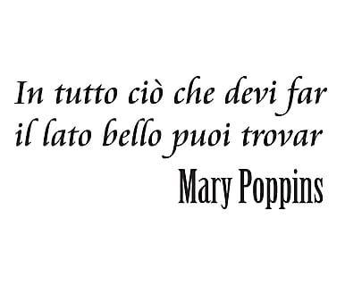 Adesivo da parete in vinile Mary Poppins, 60x30 cm