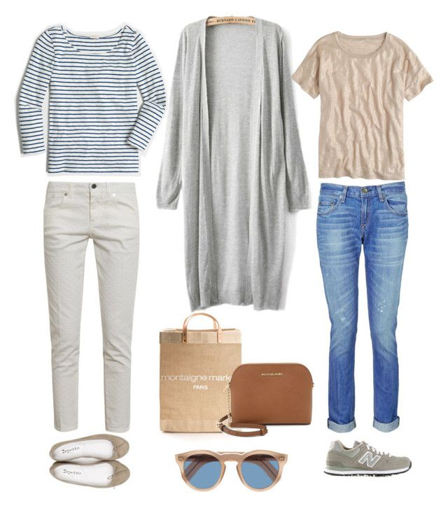 """""""One Outfit Two Ways - Market Day"""" by andthisisthereasonwhy on Polyvore featuring rag & bone, New Balance, J.Crew, APOLIS, STELLA McCARTNEY, Repetto, Cutler and Gross and MICHAEL Michael Kors"""