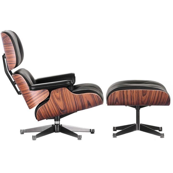 Zitza Lounge Stoel.Classic Zita Lounge Chair Ottoman Black Eames Style Lounge
