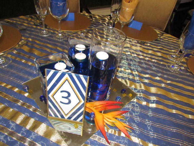 Centro de mesa. Heliconias, Agua y velas!!!