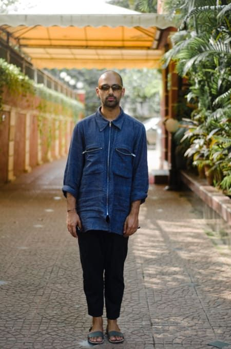 """""""The kind of clothes I wear are really versions of the traditional Indian kurta. Some of the cotton shirts I own from Dries van Noten, for example, claim to take their inspiration from vintage military uniforms, but to me, the reference, the pleat and the placket, always say India."""""""