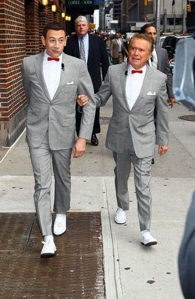 Pee-Wee Herman and Regis Philbin