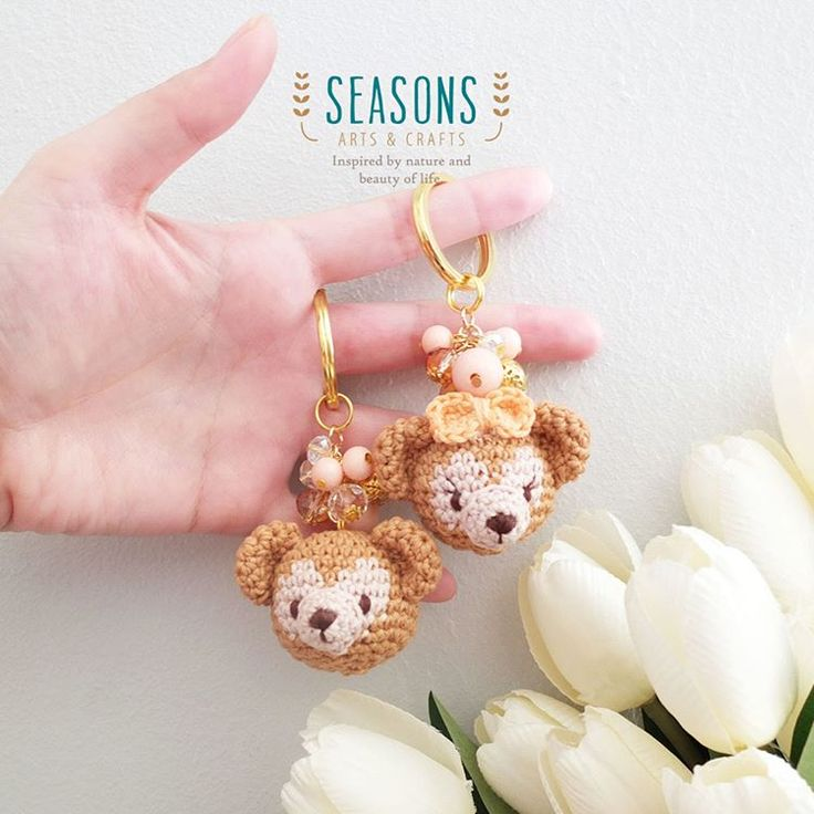How about a simple #handmade #keychain for your day?  #custommade #crochet #handmade #madewithlove #bearamigurumi #cuteamigurumi #cuteplush #cuteplushies #handmadebagcharm #jualbagcharm #jualkeychain #custombagcharm #bagcharmjakarta