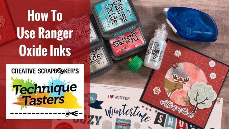 How To Use Ranger Oxide Inks - Technique Taster #129