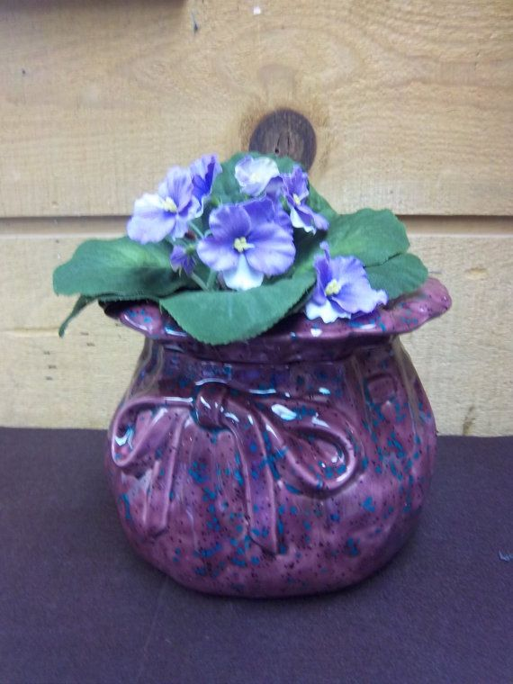 African Violet Bag Planter Self Watering Plum Color