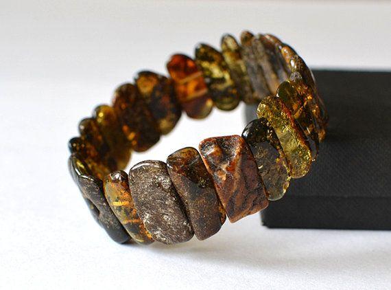 Amber Bracelet. Natural Amber Jewelry. Dark by AmberSheerBeauty