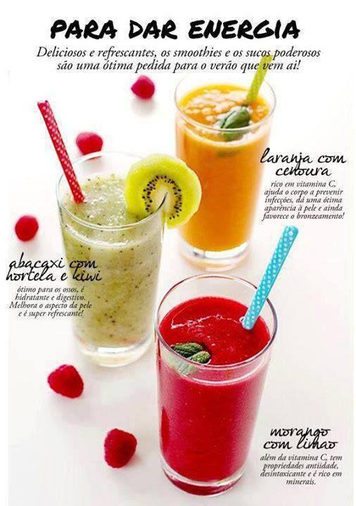 #Sucos #refrescantes.