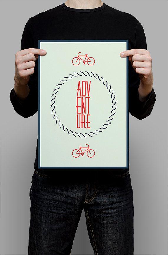 #Adventure #Print #Digital #Download #Printable #Home #Decor #Poster #Typography #Inspirational #Quote #Art #Erhico #Design
