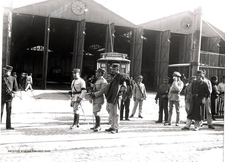 Garagem dos eléctricos em Alcántara