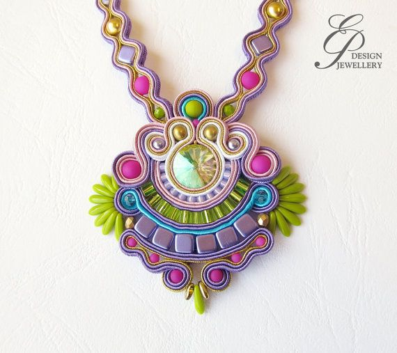 Hey, I found this really awesome Etsy listing at https://www.etsy.com/listing/186899371/soutache-necklace-with-swarovski-crystal