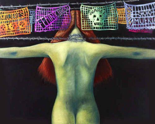"""Judithe Hernández http://www.judithehernandez.com/#!three/c1255 Judithe Hernández es un artista afincado en Los Ángeles y es miembro fundador de thei movimientos Chicano Art / Los Angeles Mural.  Ella era la única mujer y el quinto miembro de Los Cuatro - el colectivo de artistas chicanos en el Este de Los Ángeles - ella dijo después de esta experiencia que a menudo era """"literalmente la única mujer en las reuniones que no era una novia o esposa, sino un activo artista participante…"""