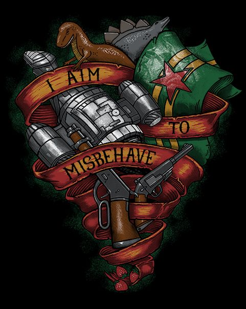 Aim To Misbehave T-Shirt $12 Firefly tee at Fresh Brewed Tee!