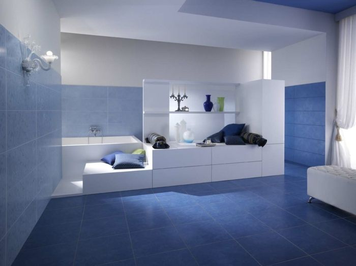 17 Best Ideas About Badezimmer Blau On Pinterest | Farbe Blau, Die ... Badezimmer Dunkelblau