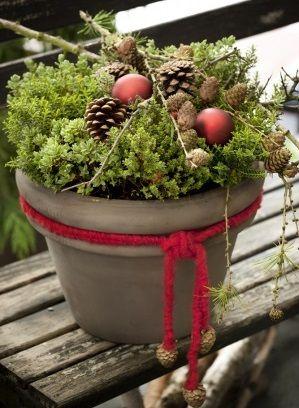 Hebe i havekrukke i et skønt julemiks