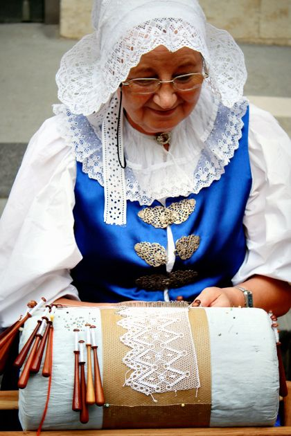 Magical Folk Art Crafts Fair de tells lace in Slovakia