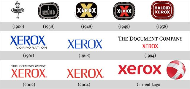 Xerox-- Check out how the logo has evolved!!