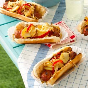 Jersey-Style Hot Dogs Recipe I grew up in northern New Jersey, where hot dogs with grilled potatoes were born. It's a combo you'll love. — Suzanne Banfield, Basking Ridge, New Jersey