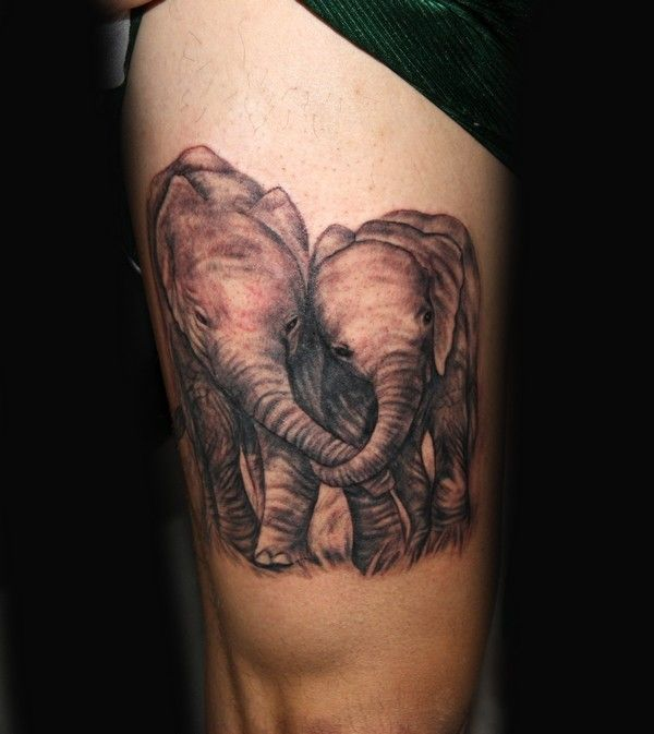 44 best elephant family tattoo designs images on pinterest for Elephant tattoo meaning family