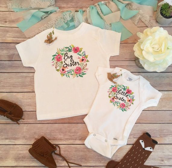 Big Sister Little Sister Outfits Big Sister Shirt by BittyandBoho