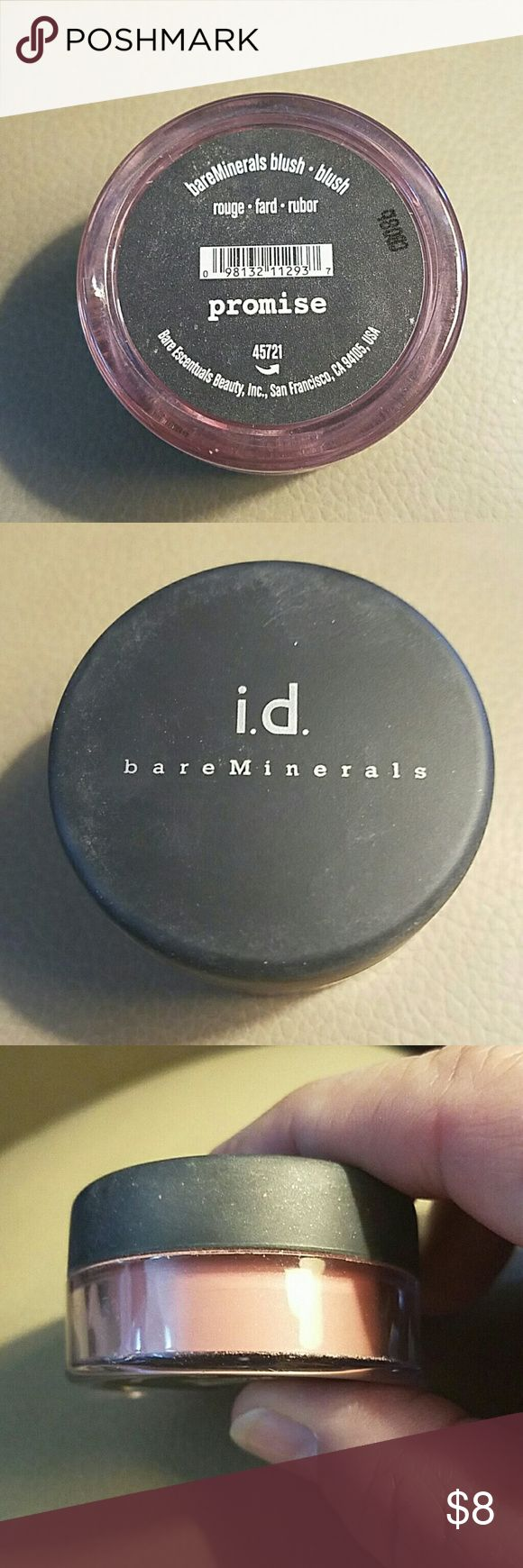 Bare Escentuals Promise blush This is a NWOT Bare Escentuals all over face color from my non smoking home. Came in a kit. NEVER used. Color is Promise. From when Bare Escentuals was a neat company. No expiration date on these as they are minerals. Full size. Bare Escentuals Makeup