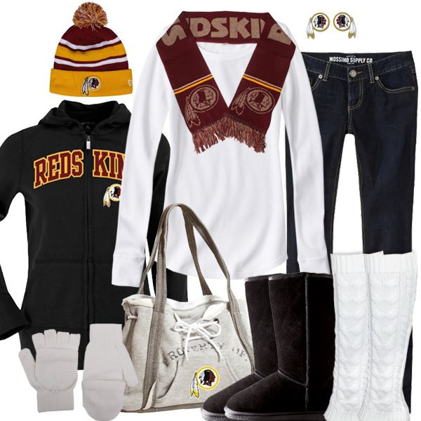Washington Redskins Winter Fashion {I have ALL of this, I