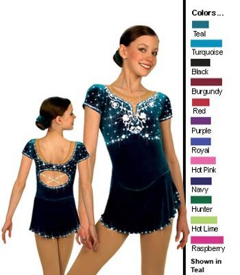 Ice skating dress template to color
