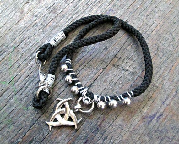 Biohazard Necklace  Cool Guys Gift  Biker Jewelry by EarthChildArt