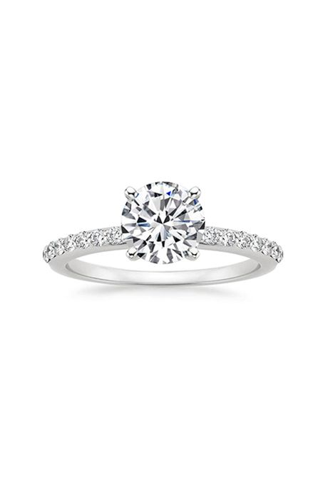brilliant earth petite shared prong diamond ring petite shared prong diamond ring set in - Wedding Rings Under 200