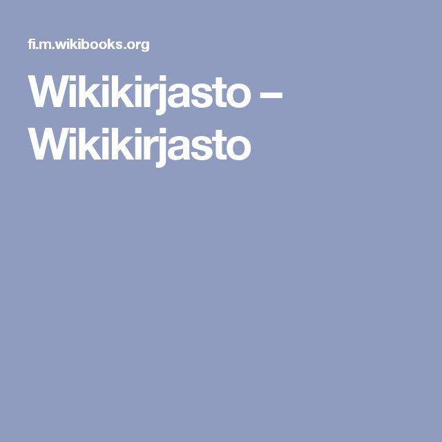 Wikikirjasto – Wikikirjasto